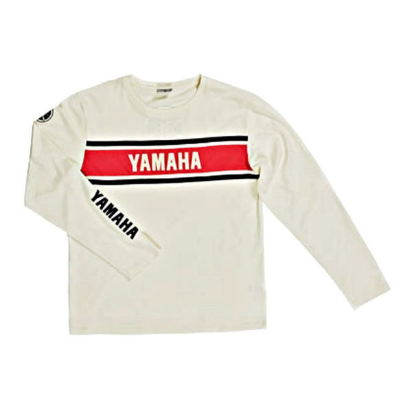 B09-0B1V3-2L-0F YAMAHA CLASSIC LONG SLEEVE WHITE MALE