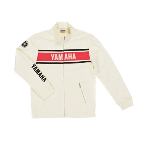 B09-0G1V3-2L-0F YAMAHA CLASSIC SWEATER WHITE MALE