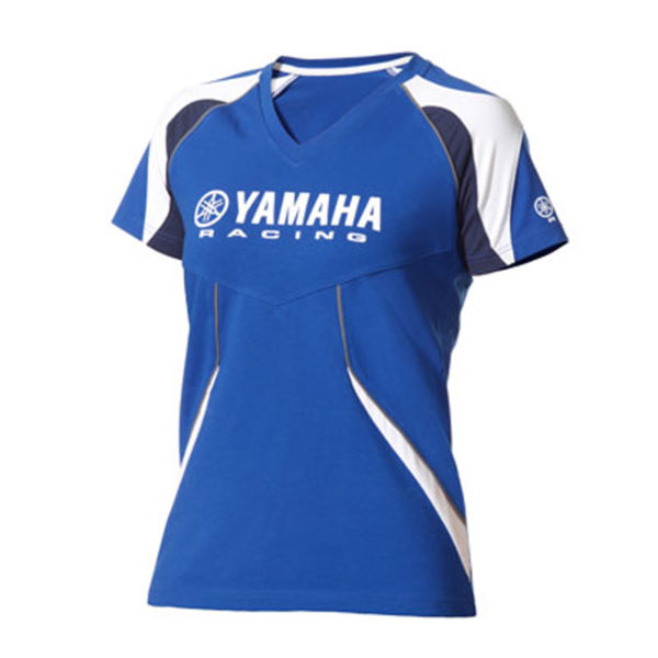 B12-FT201-E0-XX YAMAHA PADDOCK BLUE FEMALE T-SHIRT