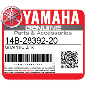 Yamaha Genuine Spare Parts Motorcycles - 14B-28392-20