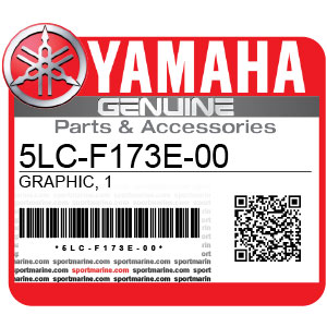 Yamaha Genuine Spare Parts Motorcycles - 5LC-F173E-00