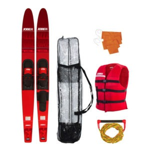 "208817004 JOBE ALLEGRE 67"" COMBO WATERSKIS PACKAGE RED"