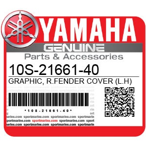 Yamaha Genuine Spare Parts Motorcycles - 10S-21661-40