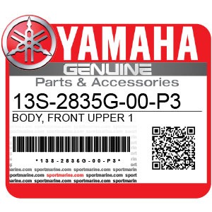 Yamaha Genuine Spare Parts Motorcycles - 13S-2835G-00-P3