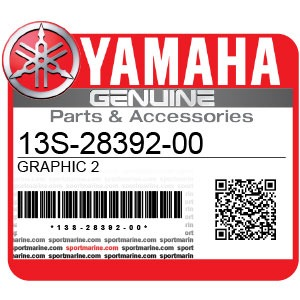 Yamaha Genuine Spare Parts Motorcycles - 13S-28392-00