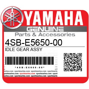 Yamaha Genuine Spare Parts Motorcycles - 4SB-E5650-00